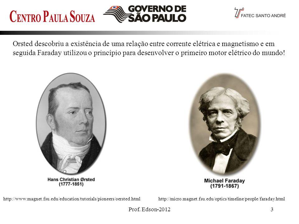 Orsted descobriu a existência de uma relação entre corrente elétrica e magnetismo e em seguida Faraday utilizou o princípio para desenvolver o primeiro motor elétrico do mundo!