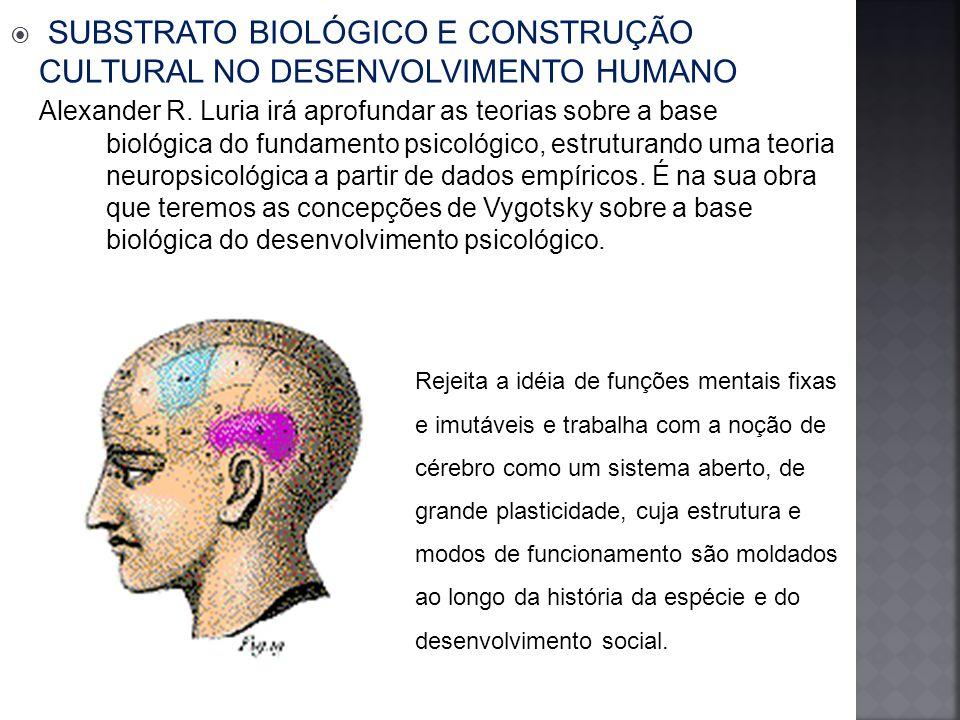 SUBSTRATO BIOLÓGICO E CONSTRUÇÃO CULTURAL NO DESENVOLVIMENTO HUMANO