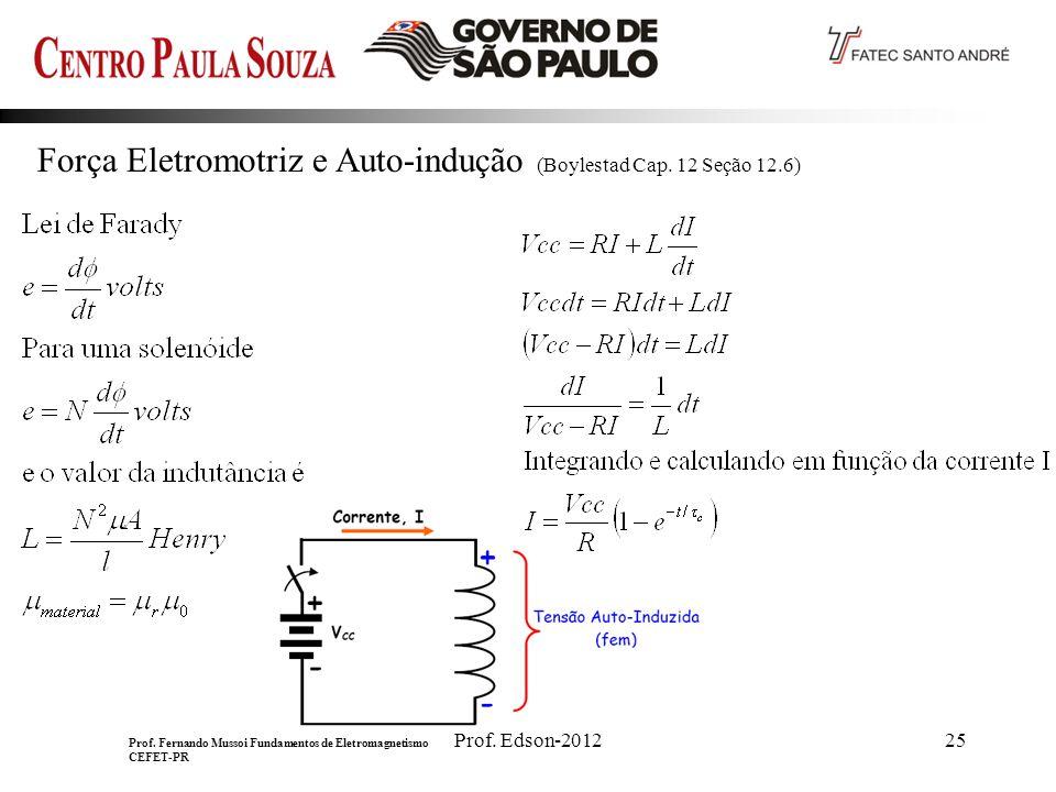 Força Eletromotriz e Auto-indução (Boylestad Cap. 12 Seção 12.6)