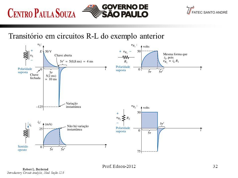 Robert L. Boylestad Introductory Circuit Analysis, 10ed. Seção 12.9