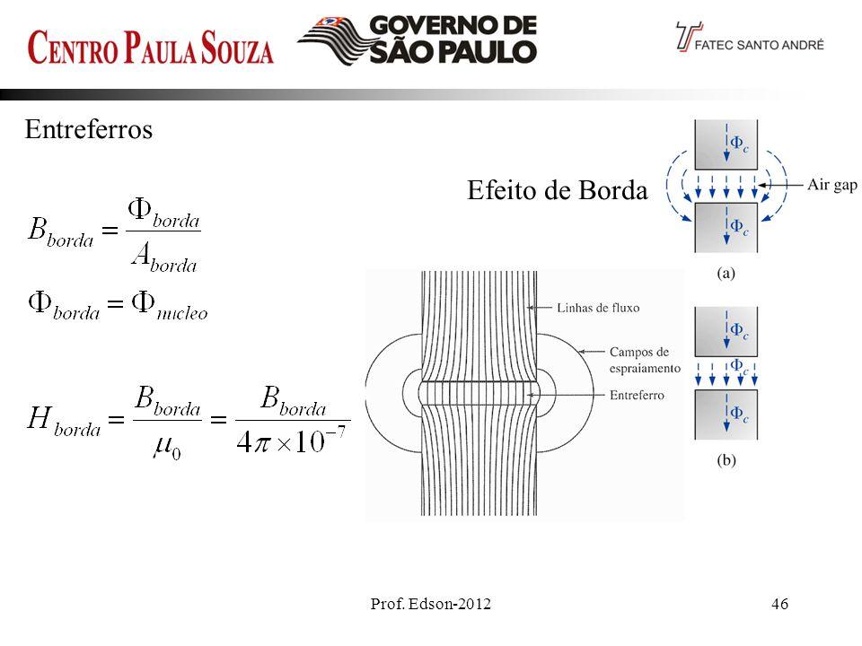 Entreferros Efeito de Borda Ideal Prof. Edson-2012
