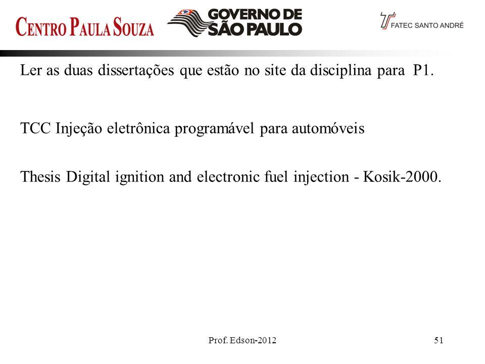 Ler as duas dissertações que estão no site da disciplina para P1.
