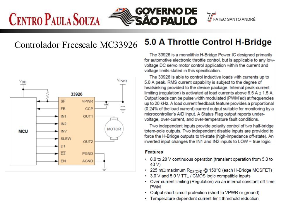 Controlador Freescale MC33926