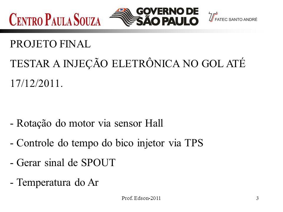 TESTAR A INJEÇÃO ELETRÔNICA NO GOL ATÉ 17/12/2011.
