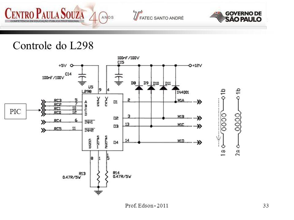 Controle do L298 PIC Prof. Edson - 2011