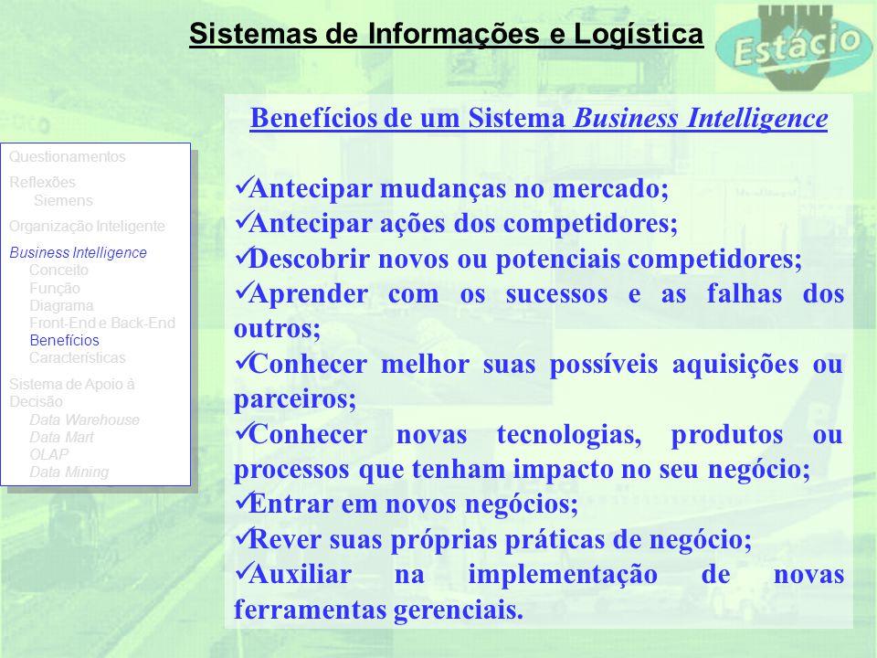 Benefícios de um Sistema Business Intelligence