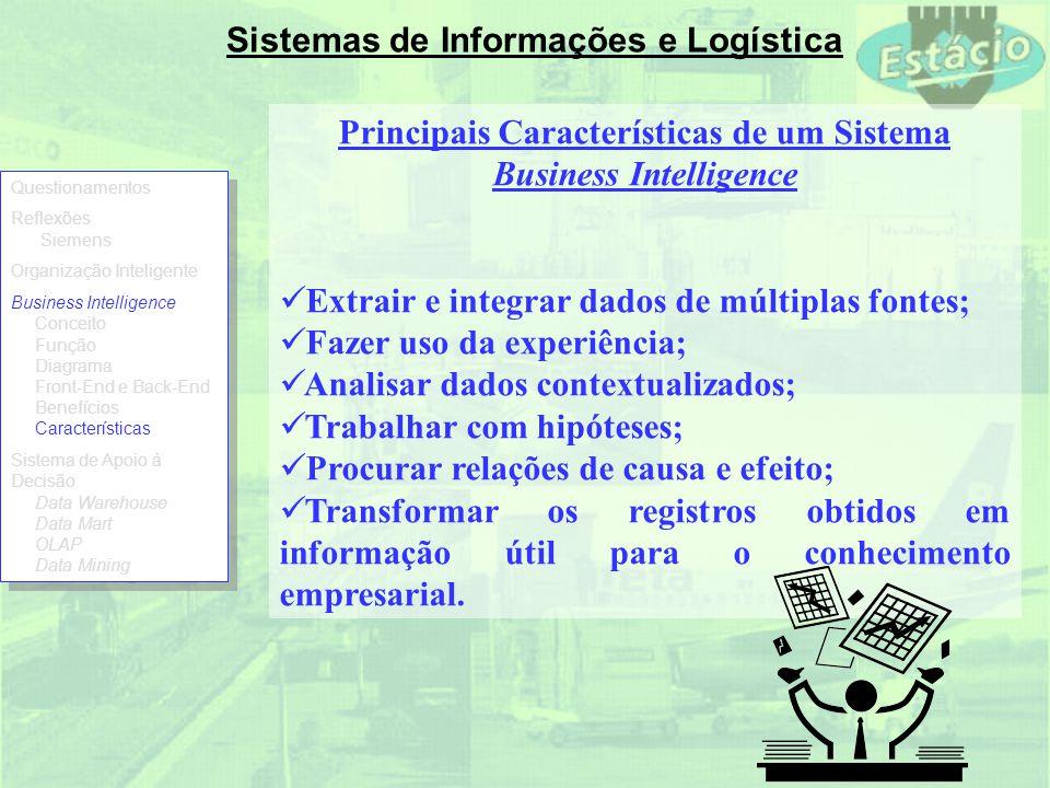 Principais Características de um Sistema Business Intelligence