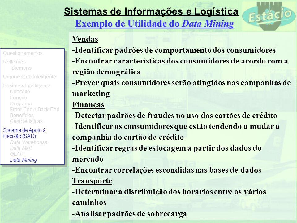Exemplo de Utilidade do Data Mining