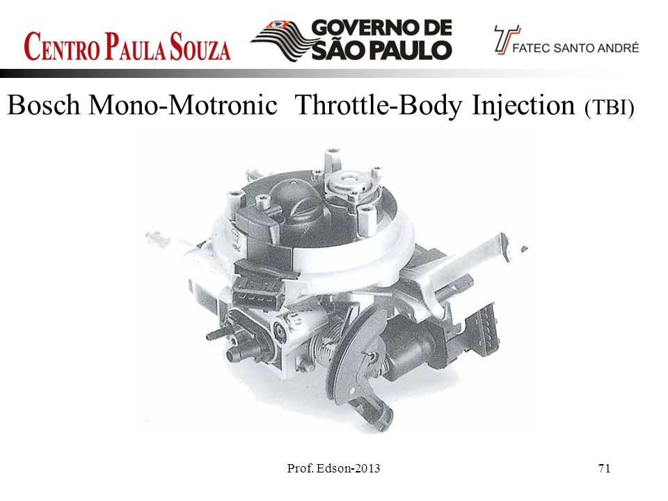 Bosch Mono-Motronic Throttle-Body Injection (TBI)