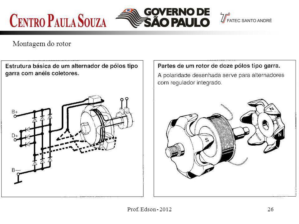 Montagem do rotor Prof. Edson - 2012