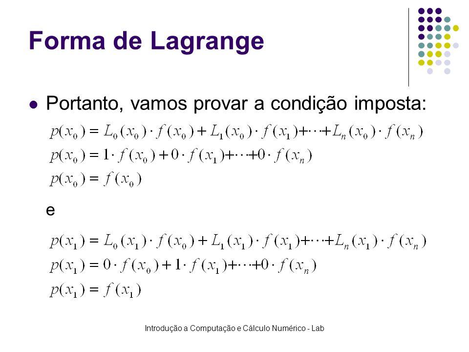 Introdução a Computação e Cálculo Numérico - Lab