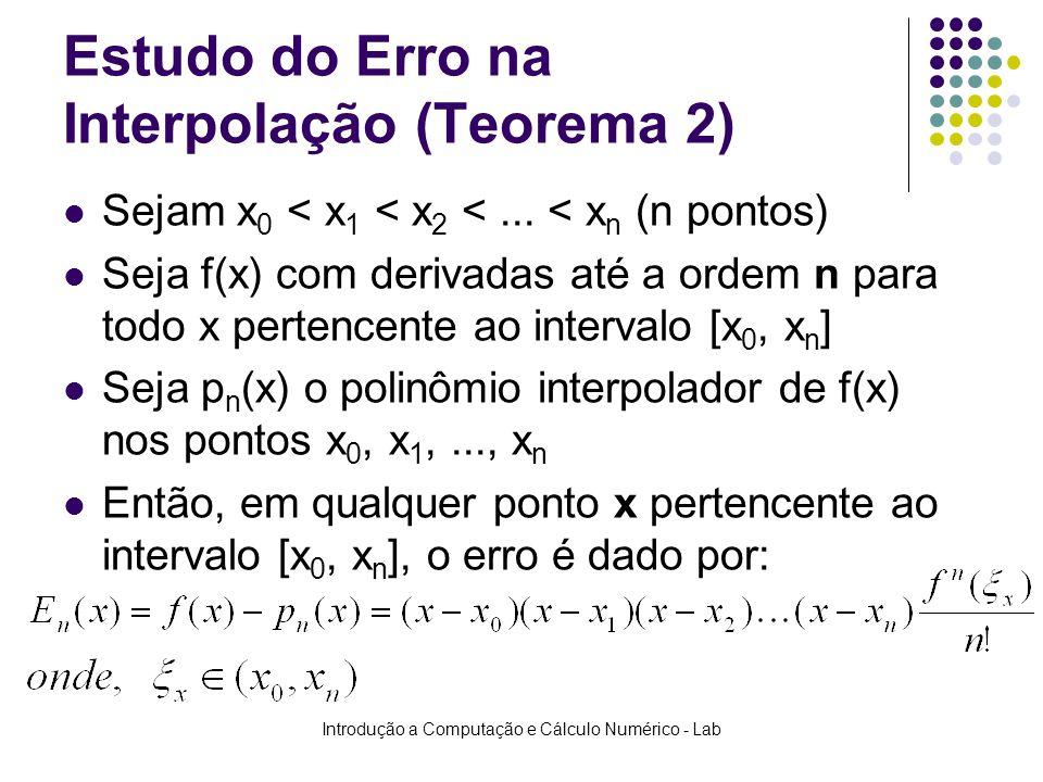 Estudo do Erro na Interpolação (Teorema 2)