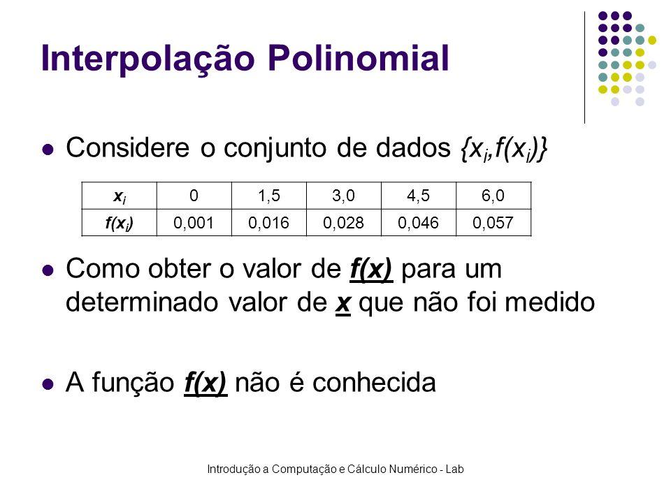 Interpolação Polinomial