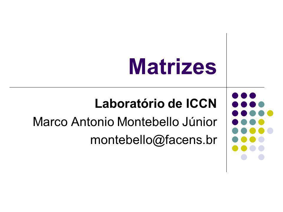 Matrizes Laboratório de ICCN Marco Antonio Montebello Júnior