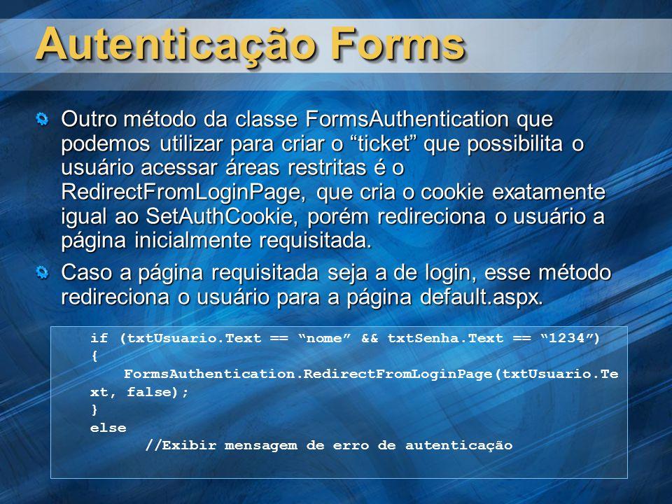 Autenticação Forms