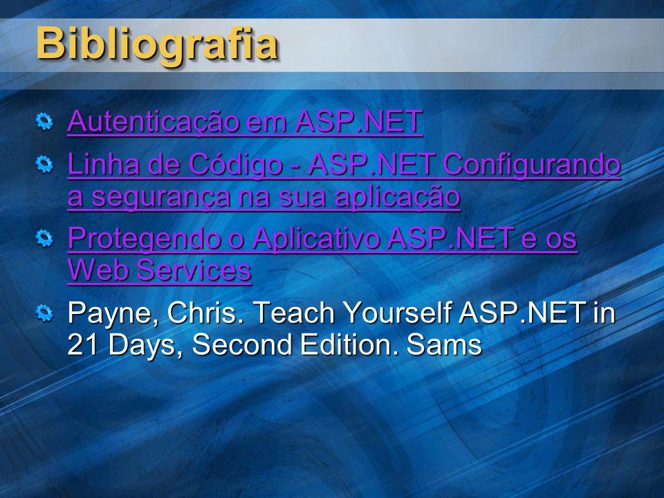 Bibliografia Autenticação em ASP.NET