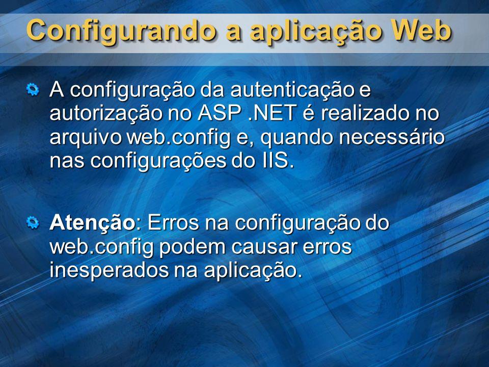 Configurando a aplicação Web