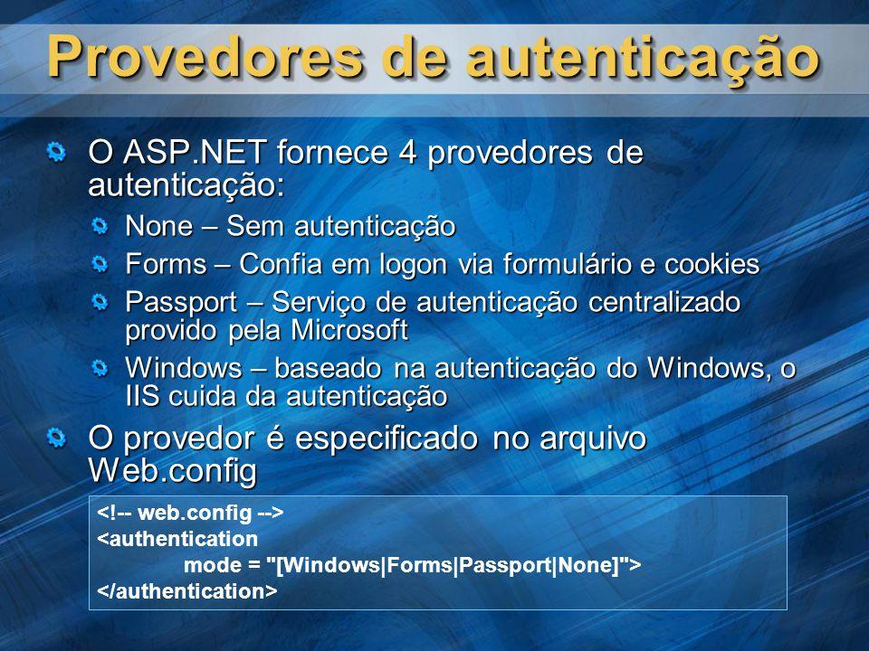 Provedores de autenticação