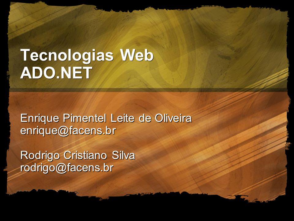 Tecnologias Web ADO.NET