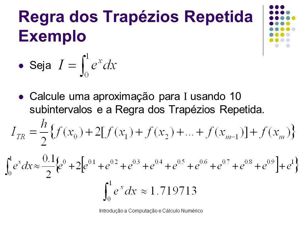 Regra dos Trapézios Repetida Exemplo