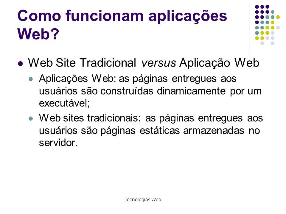 Como funcionam aplicações Web