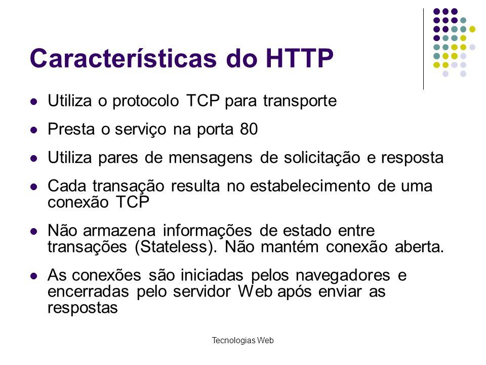Características do HTTP