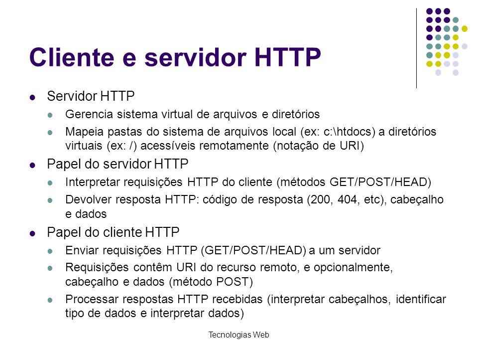 Cliente e servidor HTTP