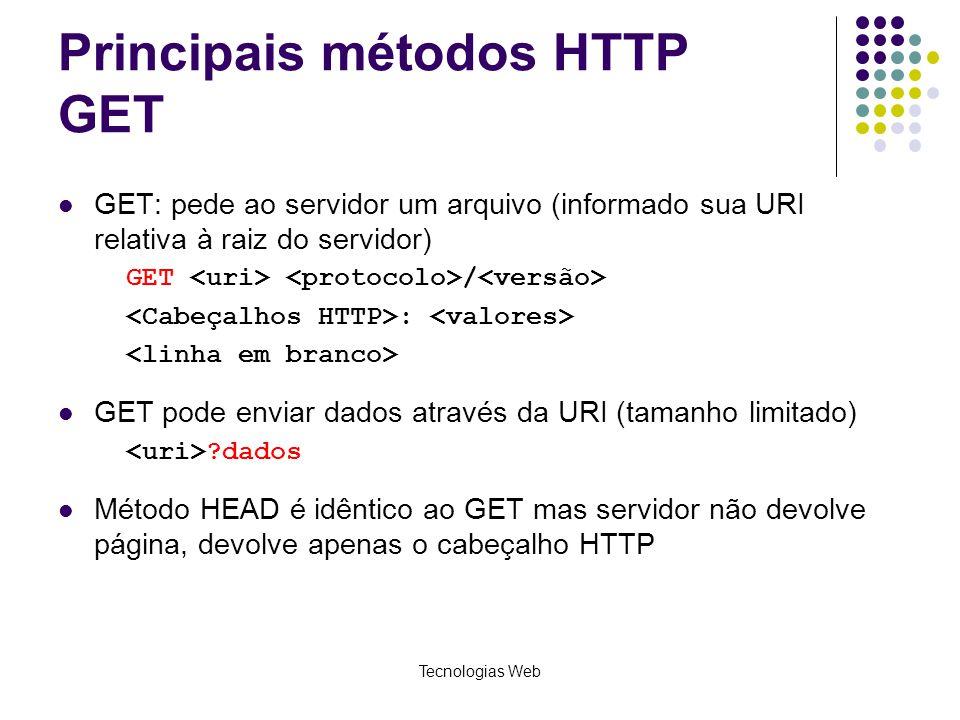 Principais métodos HTTP GET