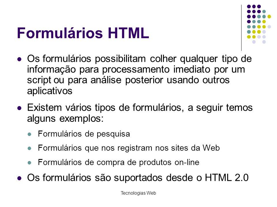 Formulários HTML
