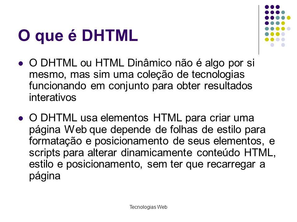 O que é DHTML