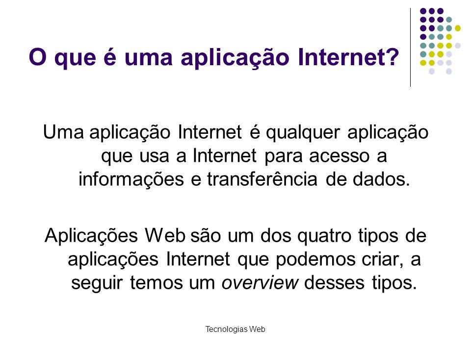 O que é uma aplicação Internet