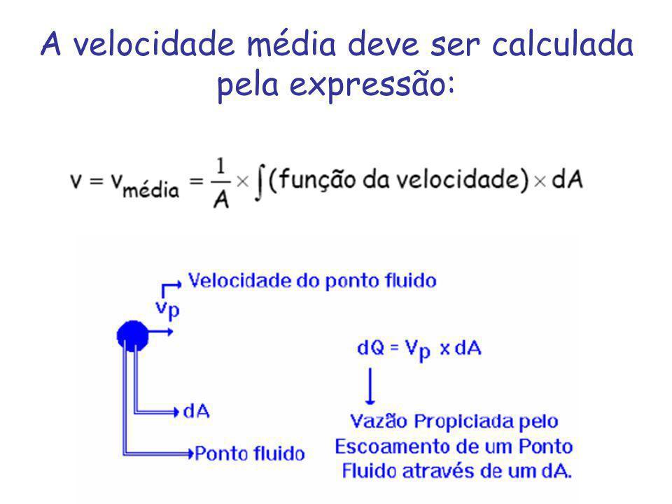A velocidade média deve ser calculada pela expressão: