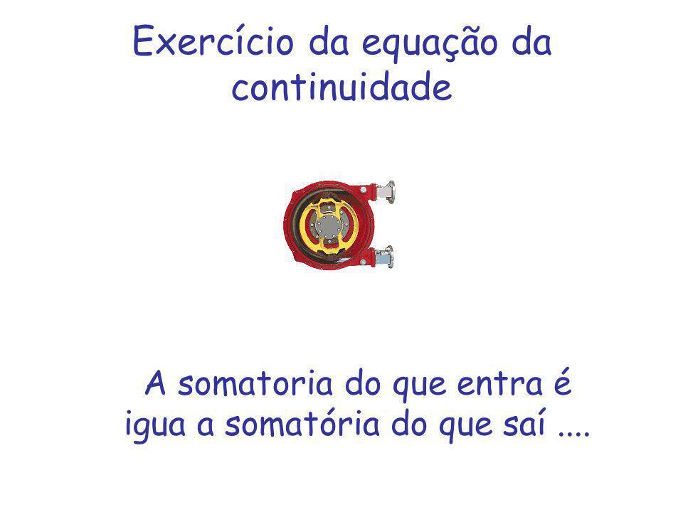 Exercício da equação da continuidade