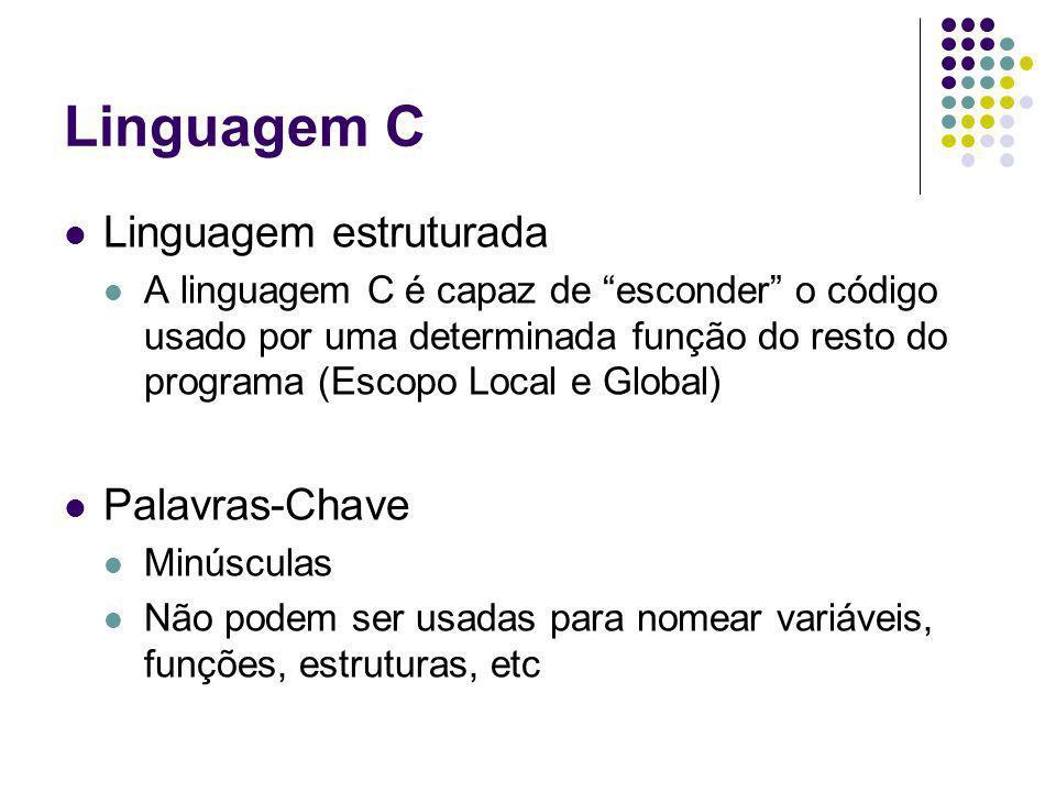 Linguagem C Linguagem estruturada Palavras-Chave