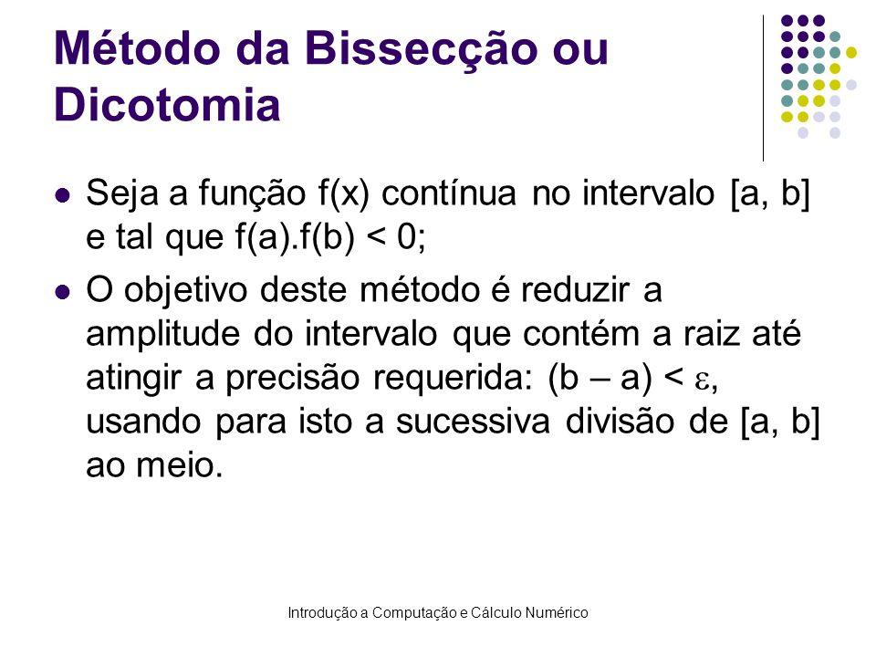 Método da Bissecção ou Dicotomia