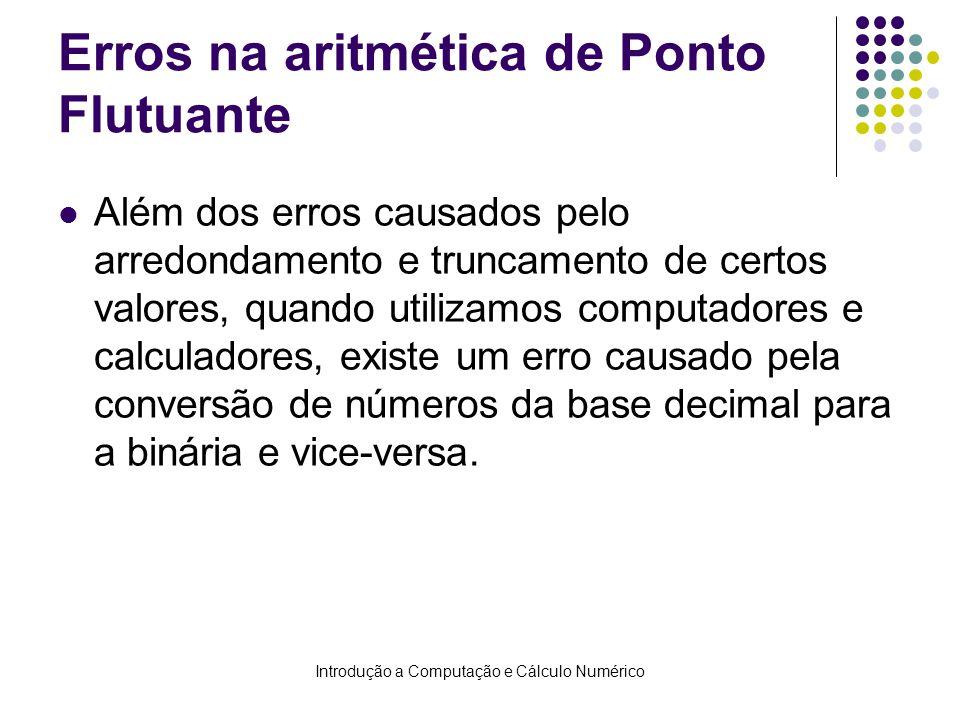 Erros na aritmética de Ponto Flutuante