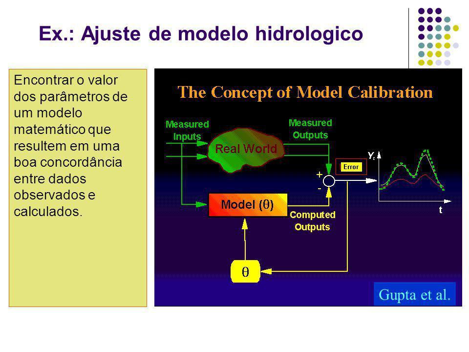 Ex.: Ajuste de modelo hidrologico