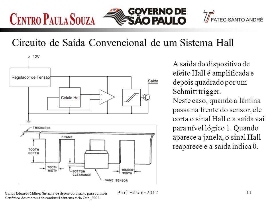 Circuito de Saída Convencional de um Sistema Hall