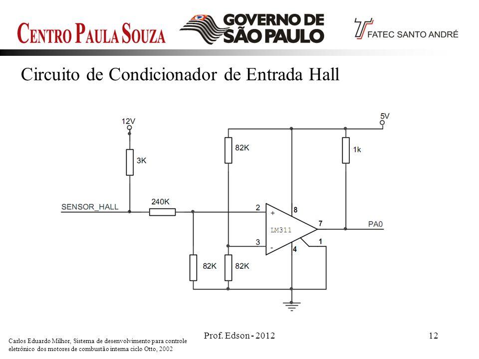 Circuito de Condicionador de Entrada Hall