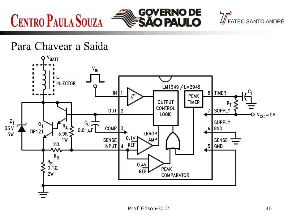Para Chavear a Saída Prof. Edson-2012