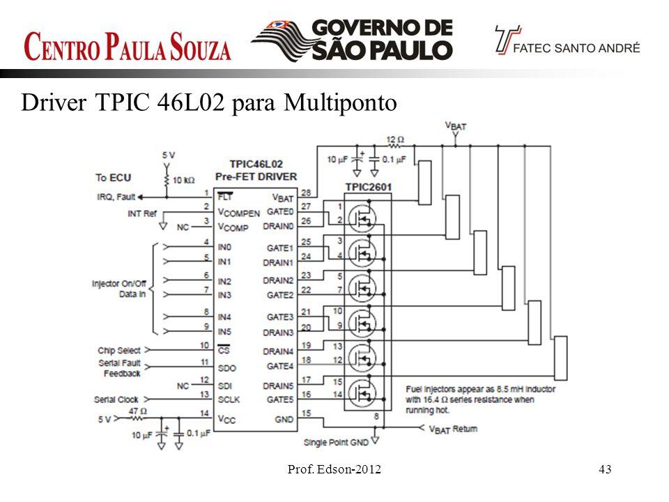 Driver TPIC 46L02 para Multiponto