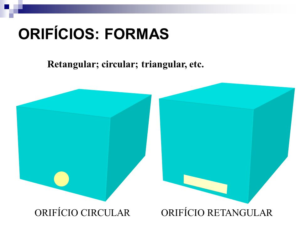 Retangular; circular; triangular, etc.