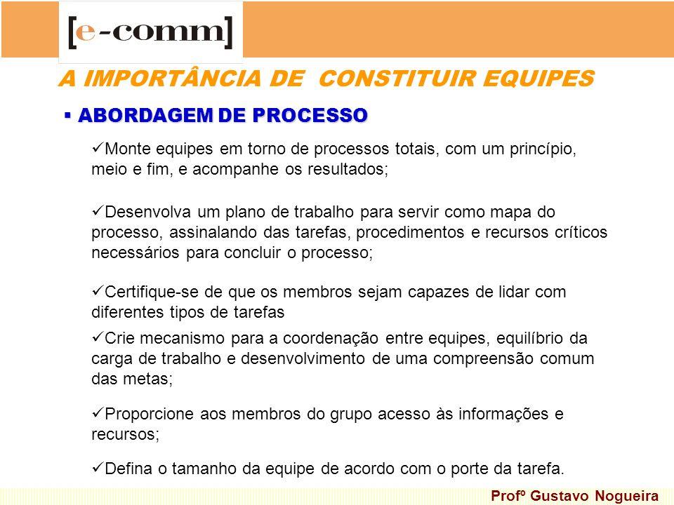 A IMPORTÂNCIA DE CONSTITUIR EQUIPES