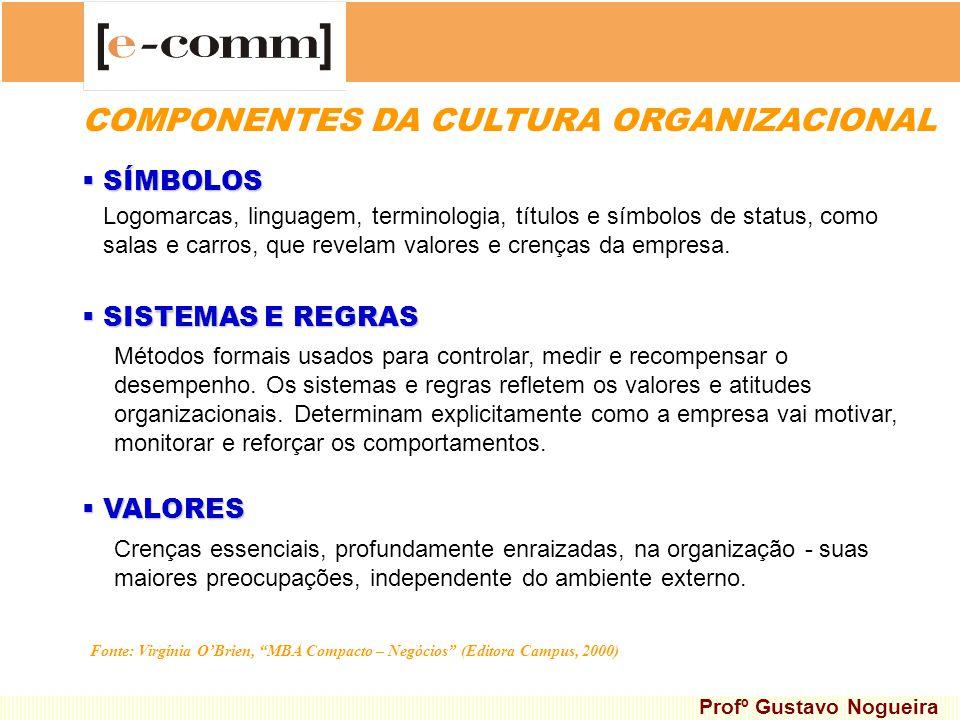 COMPONENTES DA CULTURA ORGANIZACIONAL