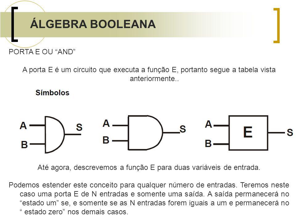 Até agora, descrevemos a função E para duas variáveis de entrada.