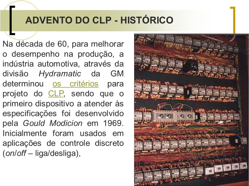 ADVENTO DO CLP - HISTÓRICO