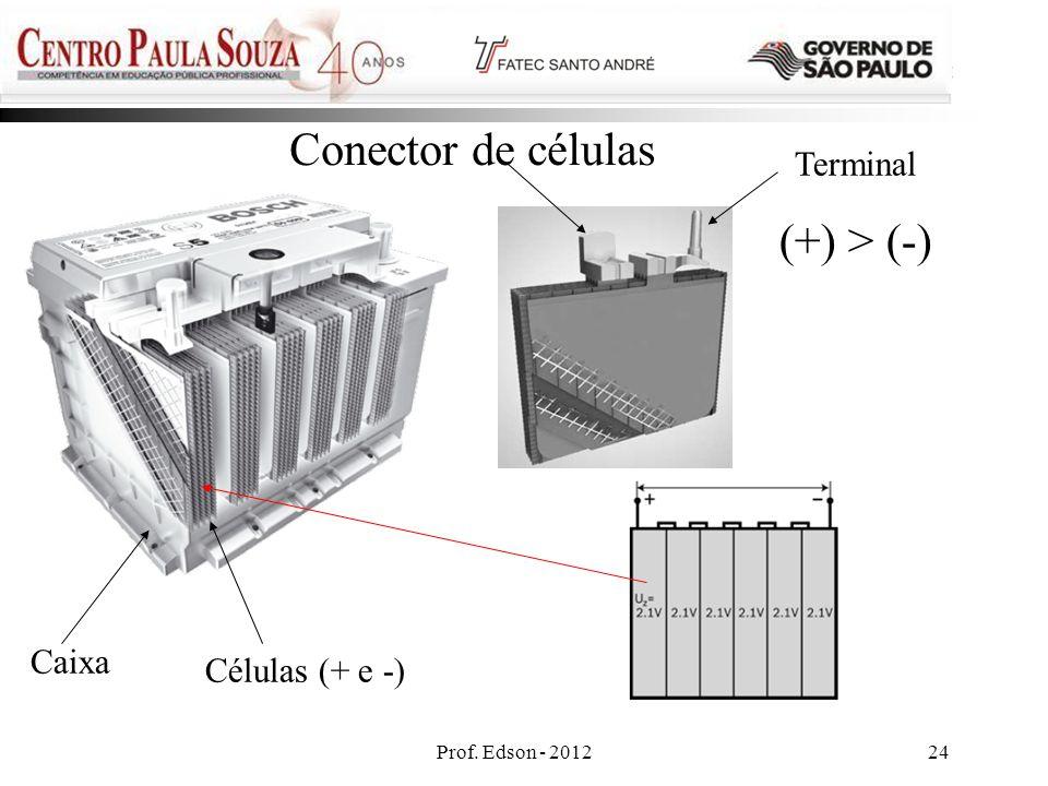 Conector de células (+) > (-) Terminal Caixa Células (+ e -)