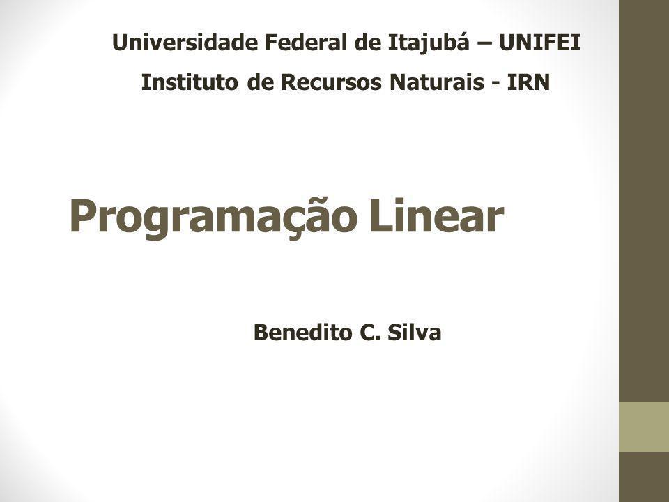 Programação Linear Universidade Federal de Itajubá – UNIFEI