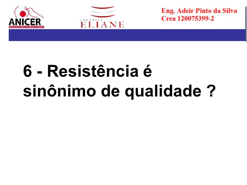 6 - Resistência é sinônimo de qualidade