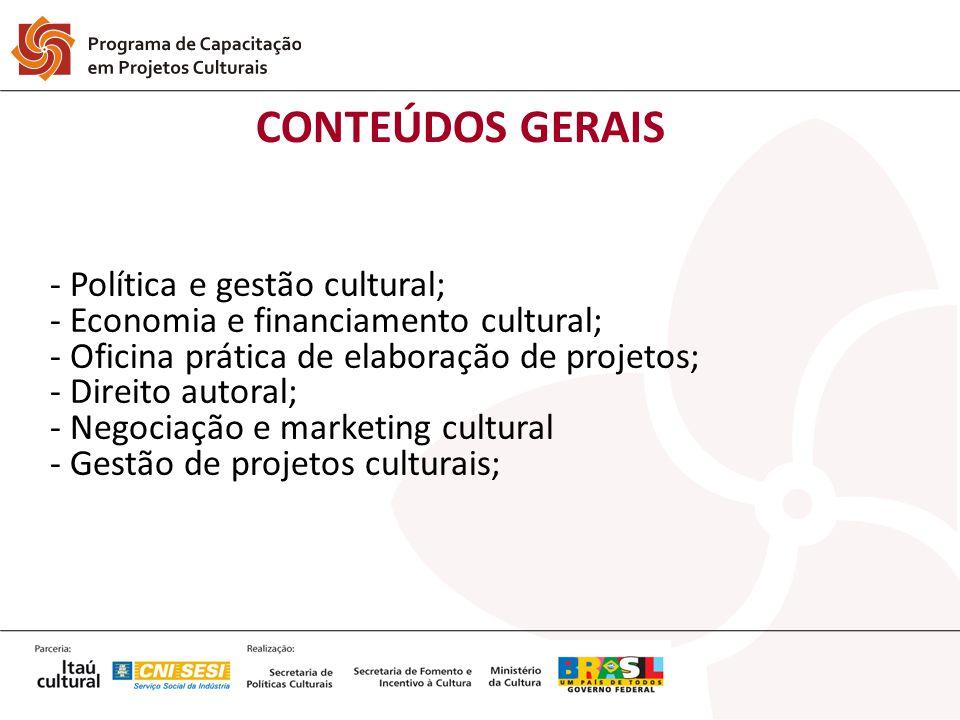CONTEÚDOS GERAIS